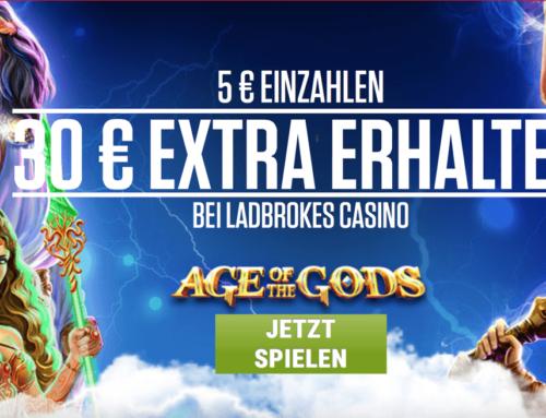 Ladbrokes Casino Sonderaktion – 30 Euro Extra Bonus warten auf dich