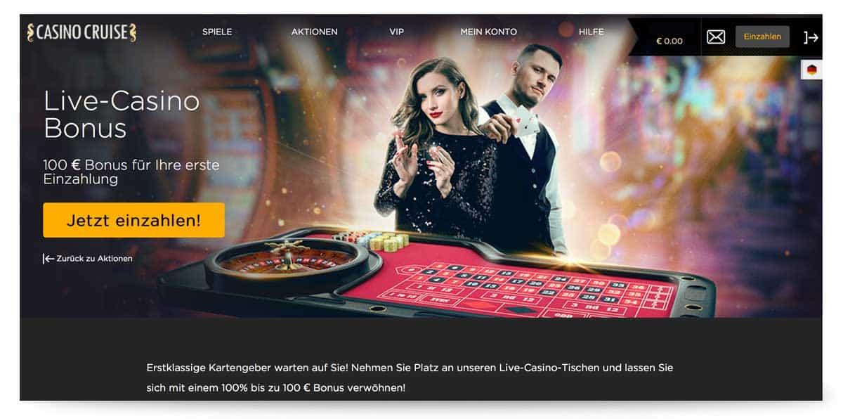 Live Casino Bonus Casino Cruise