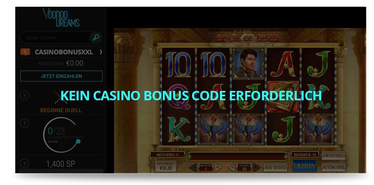 Casino Bonus Code Voodoo Dreams