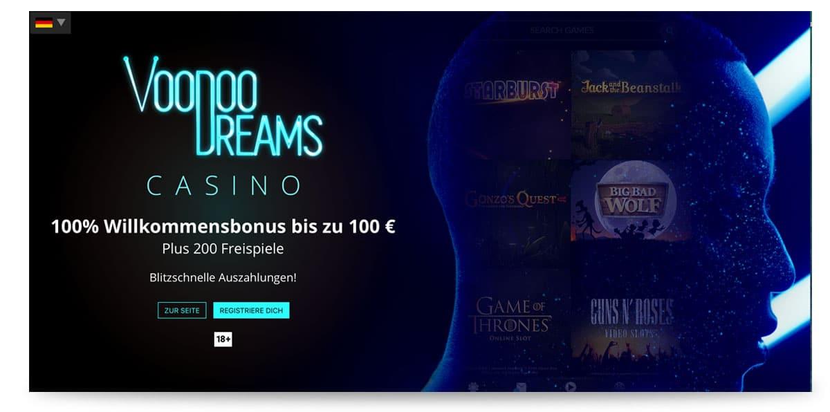 Aktueller Voodoo Dreams Bonus