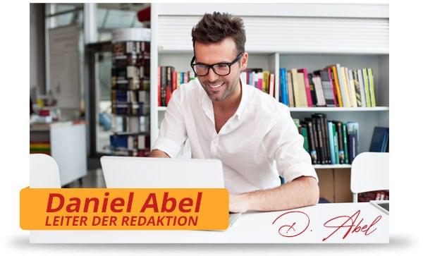 Leiter der Redaktion Daniel Abel