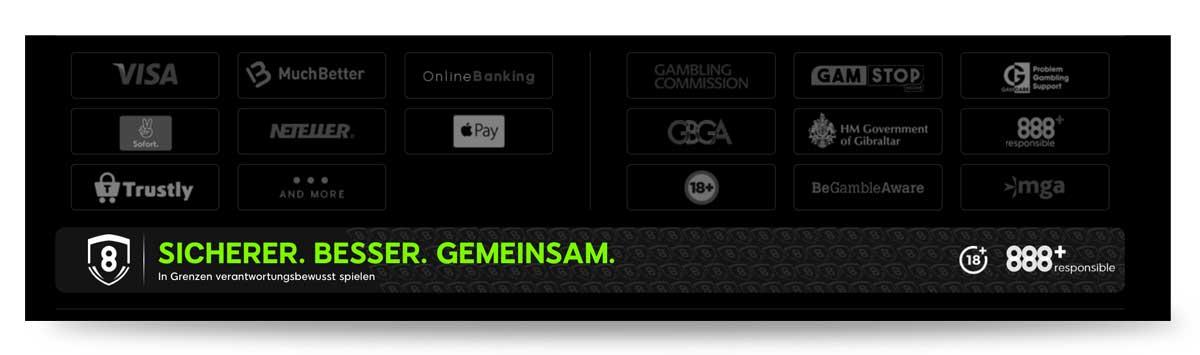 Sicherheit und Lizenz 888 Casino