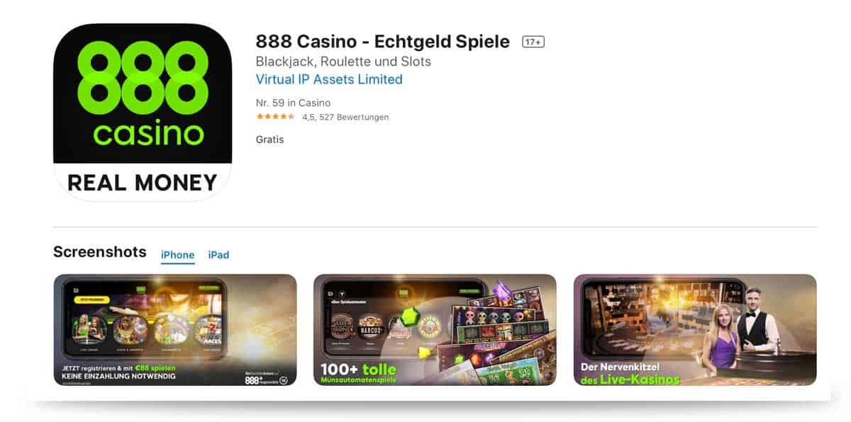 888 Casino App Apple iOS