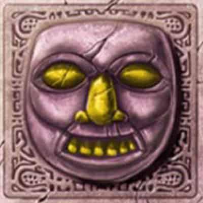 Lila Gesicht Symbol Gonzos Quest