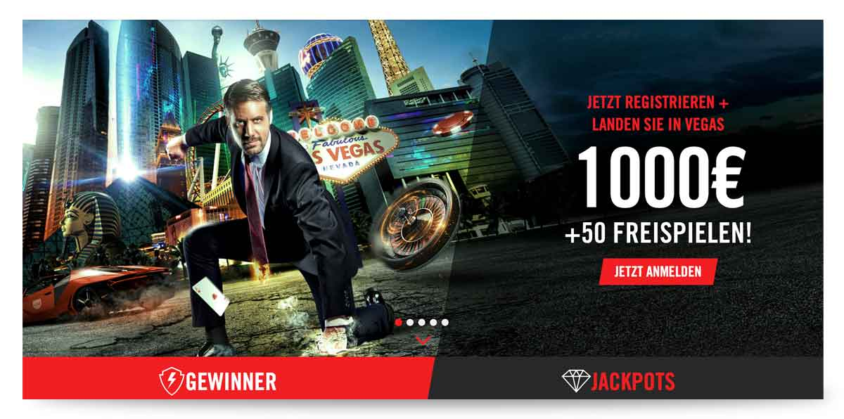 Paypal Casino Vegas Hero