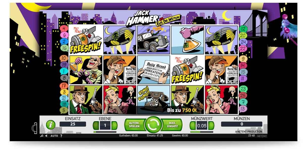 Jack Hammer Slot Bonus freispielen Karamba