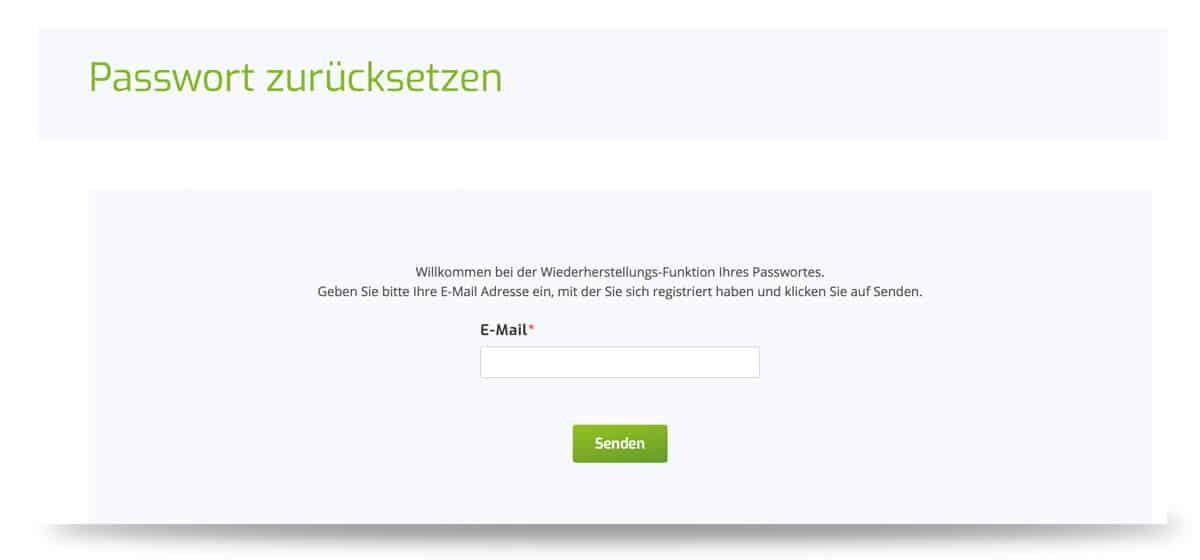 Lapalingo Passwort anfordern