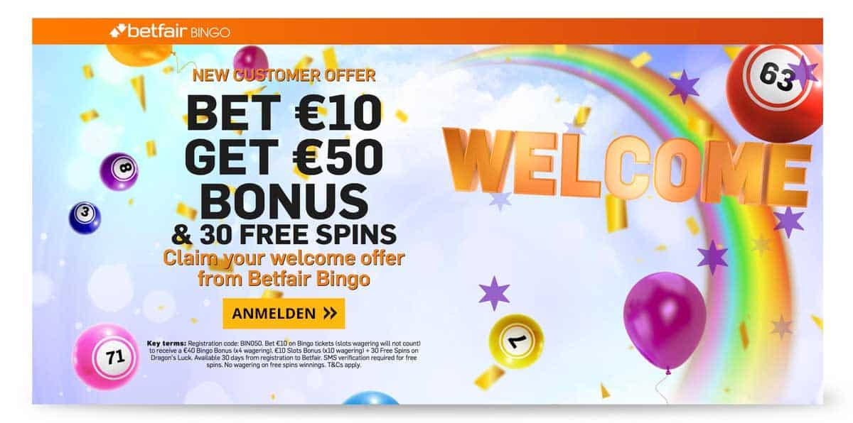 Online Bingo Angebot betfair