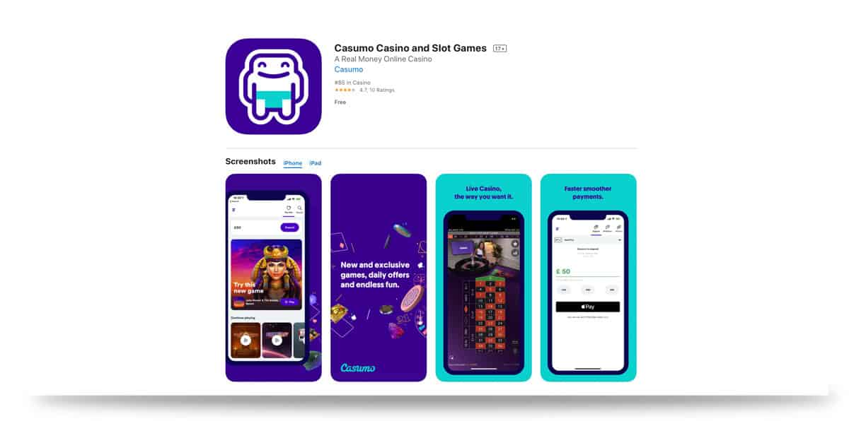 Casumo App iTunes Store Apple