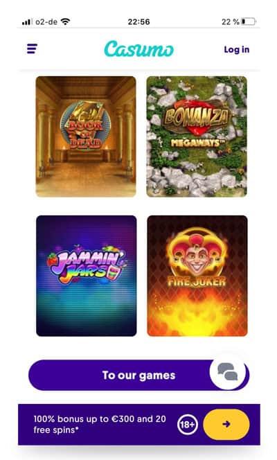 Casumo App Screenshot