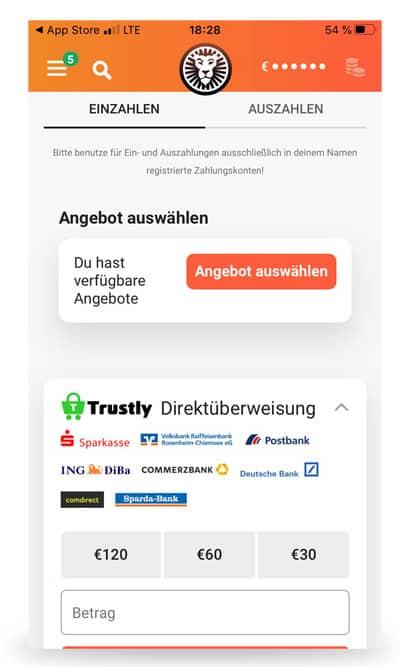 LeoVegas App Auszahlung