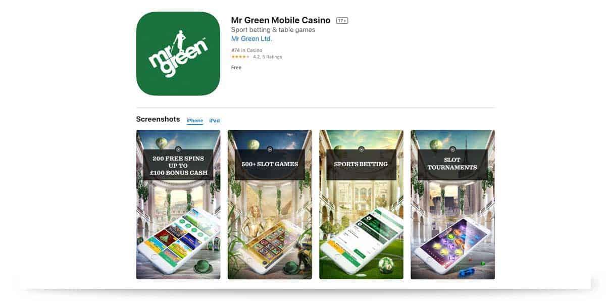 Mr Green App iTunes Store Apple iOS
