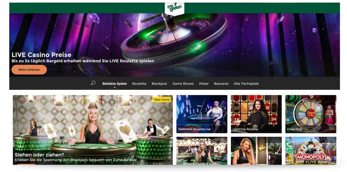Live Casino Mr Green