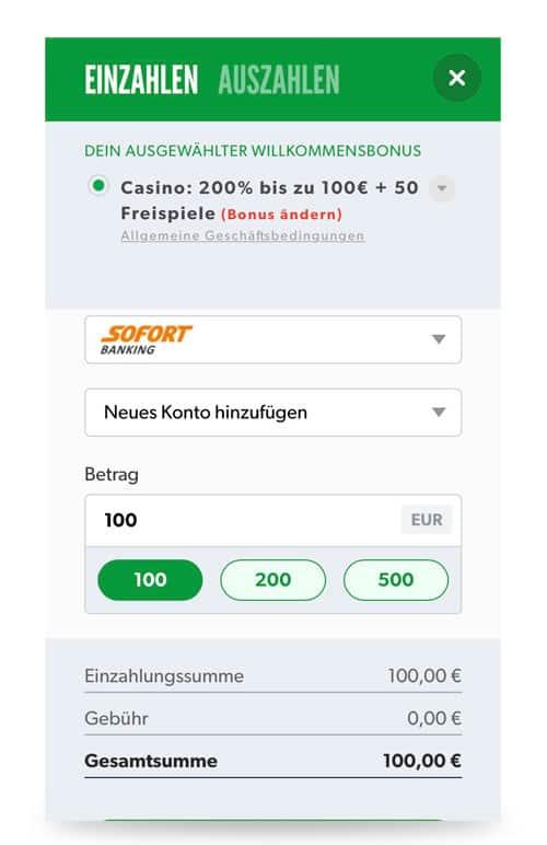 Rizk App Ein- und Auszahlung