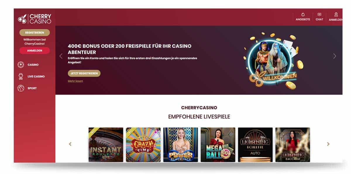 Cherry Casino Startseite
