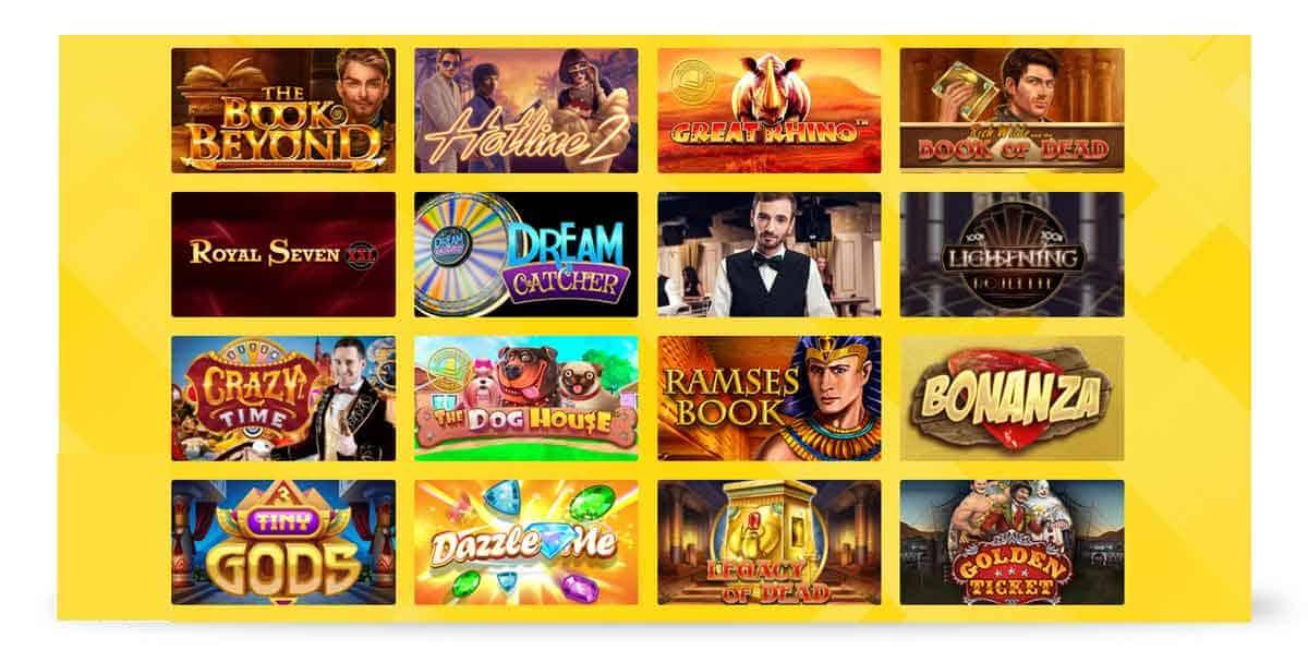 Slotauswahl Hyperino Casino