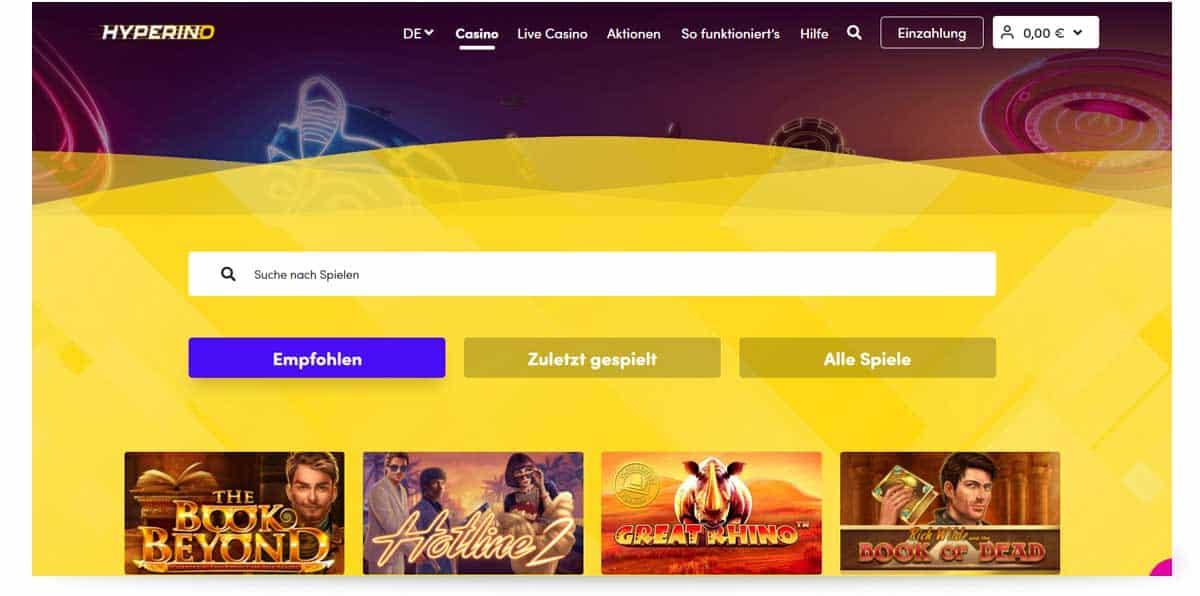 Startseite Hyperino Casino