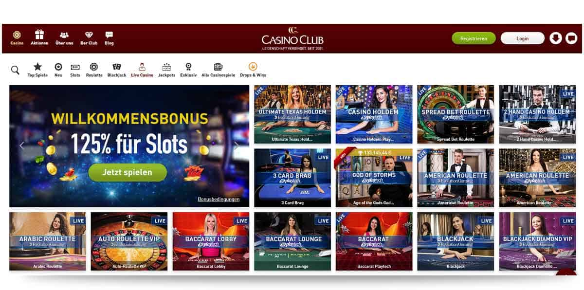 Live Casinos CasinoClub