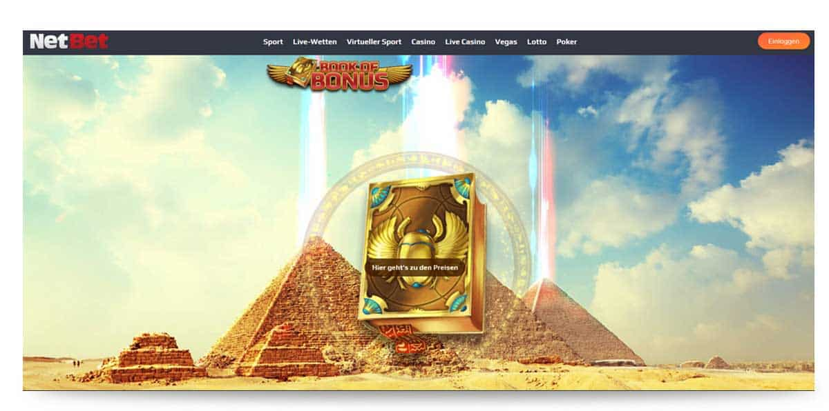 Netbet Casino Bonus Book of Dead