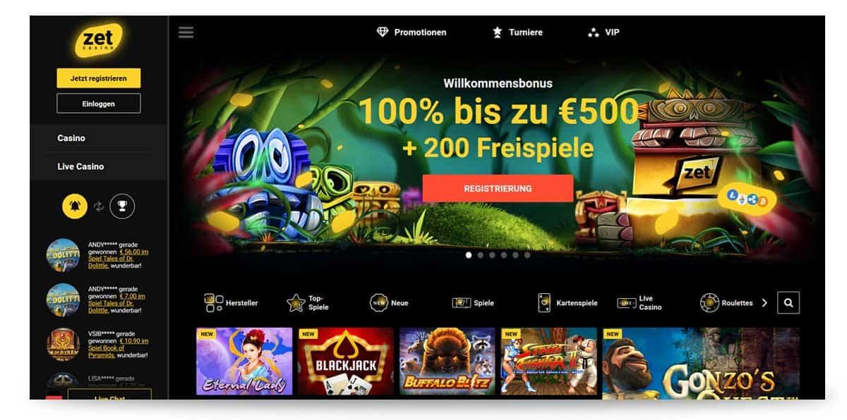 Startseite ZET Casino