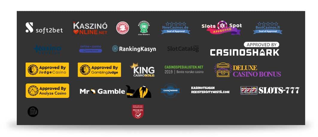 ZET Casino Trustsymbole