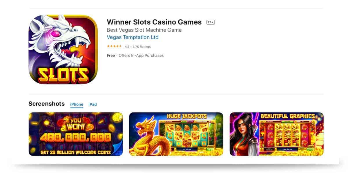 Winner Casino App iOS Apple